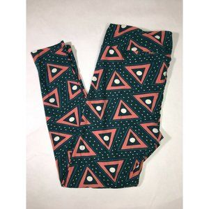 Lularoe Tall and Curvy Leggings Abstract Pink